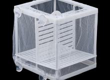 Aquarium Hanging Fish Breeding Box Fish Incubator-(Gauze Isolator)
