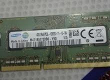 RAM Samsung 4GB بحاله الوكاله للابتوب