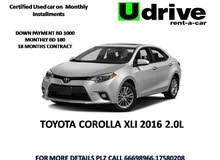 For sale Toyota Corolla 2016 on 18 months Installments