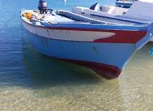 قارب صيد للبيع مع محرك ياماها 25