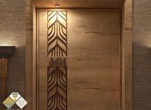 دهان الأبواب الخشبية والحديدية بجميع أنواعها
