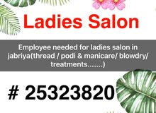 Employee needed for ladies salon