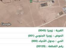 دونم ارض للبيع علا طريق المطار 15 الف دينار منطقة زويزا