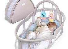 سرير البيبي حديث الولاده  ل6 شهور  يصير للبنات وللاولاد  لون بيج