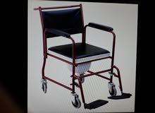 كرسي متحرك بقاعدة تواليت ياخذ 30 إلى 60