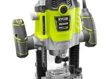 راوتر ( ماكنة فورمايكا ) ماركة Ryobi قوة 1600 واط سرعات
