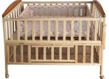 سرير اطفال خشب دبل للبيع