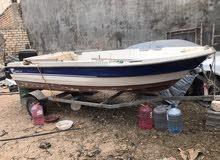قارب فايبر صنع تركي 4.5 مع محرك ياماها 25