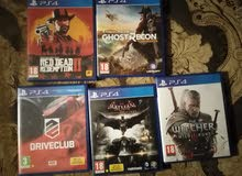 Ps4 slim 500gb with 5 game discs and 3months ps now subscription