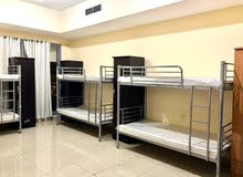 New Full Heavy Duty Silver Color Bunk Bed With Medical Mattress -