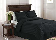 » مفرش سرير فندقي 6 قطع مقلم من شيراتون