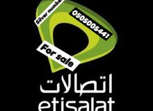 silver number from Etisalat for sale (0505005441)