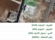 ارض 915 في البنيات خلف جامعة البترا قرب شارع المطار سكن ب بأحكام خاصة