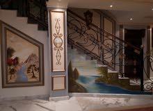 فن الرسم على الجدران ديكور باليد للرسام سامح للتنفيذ