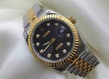 Rolex date just 18k Black