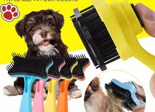 DOG'S BRUSH ONE PUSH/فرشاة شعر كلاب ذاتية التنظيف