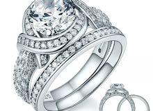خاتم 925 الفضة الاسترليني  مقاس 7