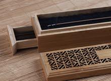 اجود انواع العود ذاتي الاحتراق في صندوق خشبي راقي