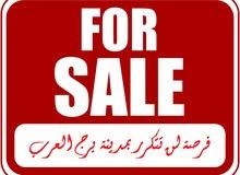 للبيع قطعة ارض بالحي السادس ببرج العرب علي شارع رئيسي