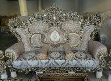 تخم ايراني امبراطوري  10مقاعد مع كوشات وطبلات توصيل مجاني الباب البيت