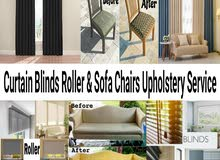 Sofa Chair Upholstery Service Making Curtain blinds roller service