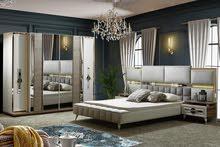 غرف نوم تركي ملكية 9 قطع كبيرة وفخمة جذ