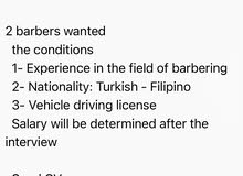 2 barbers wanted