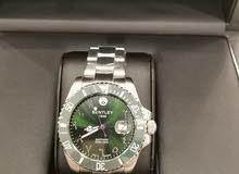 ساعة بنتلي مينا خضراء شبيهة الرولكس الهولك