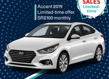 Hyundai Accent 2019 for rent (Limited offer)