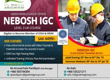 Join NEBOSH IGC Safety Officer course in Saudi Arabia
