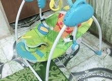 كرسي اطفال مستعمل قليل كهربائي يحتوي على نغمات ريمونت السعر 50 الف