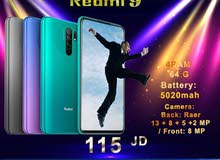 يابلاش 5020mAh 18w fast 64G 4ram Redmi 9