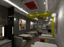 مطعم للايجار الحاله جديده بدون معدات