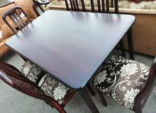 طاولة سفرة مكونة من 6 كراسي خشب زان