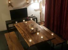 طاولة سفرة من الخشب الصولد الفاخر