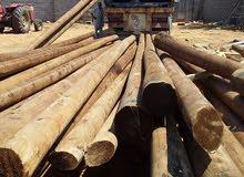 اعمدة خشب 9متر
