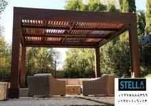 برجولة خشبية / شركة ستيلا لاندسكيب ، اتصل الان لعمل معاينة   01275888366