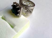 خاتم نسائي مرصع بالاحجر الكريم