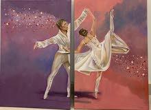 لوحة فنية بالالوان الزيتية