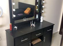 ikea queen size bed and mirror cabinet