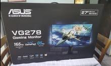 للبيع شاشة العاب (جيمنج) جديدة غير مستعمله ، ضمان سنة، نوع الشاشة asus vg278qr