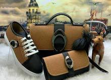 حذاء مع حقيبه مع جزدان يناسب ذوقكم الجميل