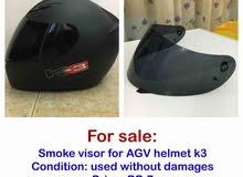 Smoke visor for AGV helmet