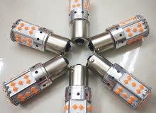 لمبات ليد LED للإشارة ( الفلشر) لجميع السيارات برتقالي قوية جداً - الطائف