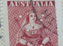 طابع الملكه فيكتوريا أستراليا اصلي شحيح جدا