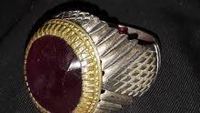 ياقوت افريقي ثقيل جدا...وخاتم حديد صيني