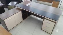 مكتب خشب مع سكرتارية وادراج خامة ممتازة موديل جديد
