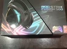 سماعة asus للالعاب rog strix fusion 500