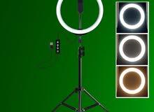 Ring Light رنغ لايت قياس 26 سم (10 انش)  مع ستاند عرض لفترة محدودة