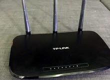 راوتر 3 انتينات نوع tp-link مستعمل اسبوعين بحالة الوكالة للبيع